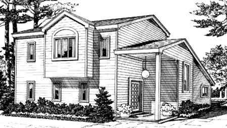 Cabin Contemporary House Plan 90621 Rear Elevation