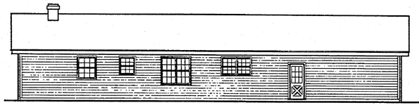 Ranch House Plan 90623 Rear Elevation