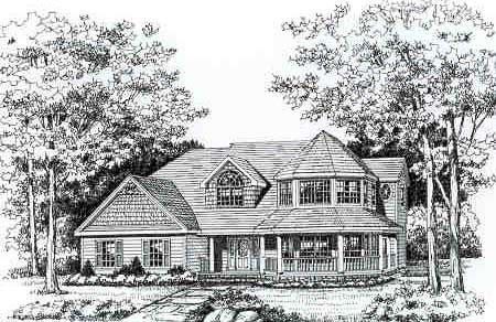 Country, Farmhouse, Victorian House Plan 90647 with 4 Beds, 3 Baths, 2 Car Garage Picture 3
