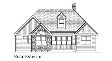 Country Farmhouse Ranch Southern House Plan 90655 Rear Elevation