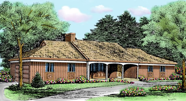 Contemporary Country House Plan 90680 Elevation