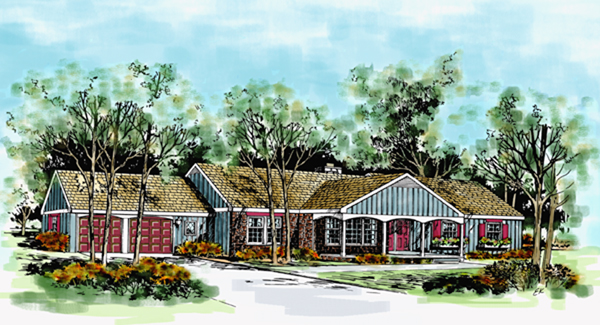 Ranch House Plan 90684 Elevation