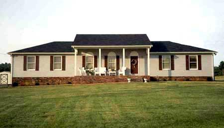 Country, Farmhouse, One-Story, Southern, Traditional House Plan 90689 with 3 Beds, 2 Baths, 2 Car Garage Elevation