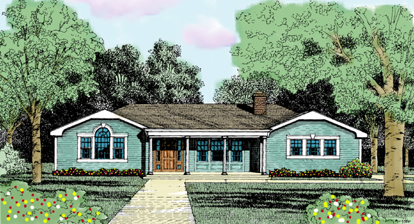 Traditional House Plan 90691 Elevation