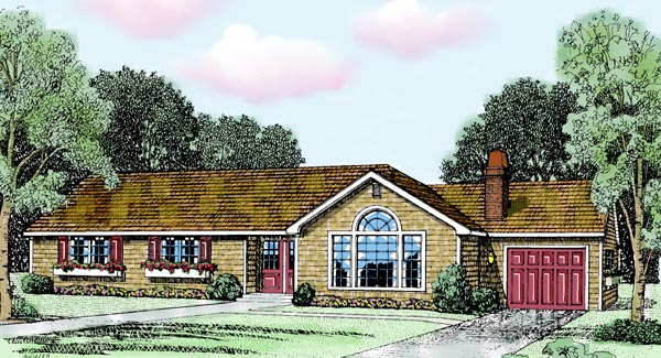 Ranch House Plan 90692 Elevation