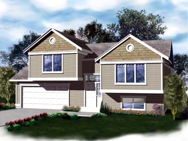 Traditional House Plan 90730 with 3 Beds, 2 Baths, 2 Car Garage Elevation