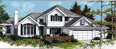 Traditional House Plan 90737 Elevation