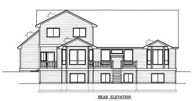 Country Farmhouse House Plan 90742 Rear Elevation