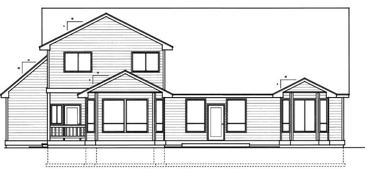 Country Traditional House Plan 90744 Rear Elevation