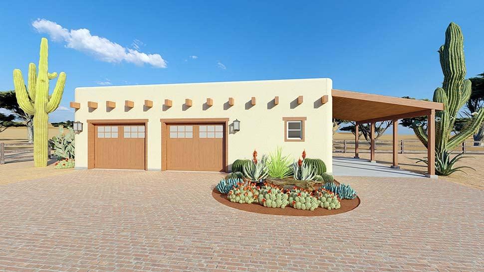 Southwest 2 Car Garage Plan 90821 Picture 4