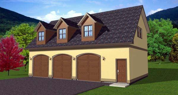 3 Car Garage Apartment Plan 90833
