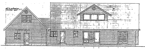 Country Farmhouse Southern House Plan 90838 Rear Elevation