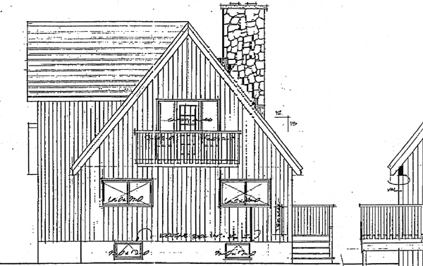 Contemporary House Plan 90844 Rear Elevation