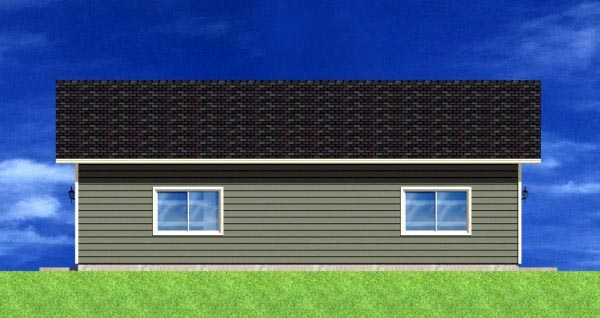3 Car Garage Plan 90882 Rear Elevation