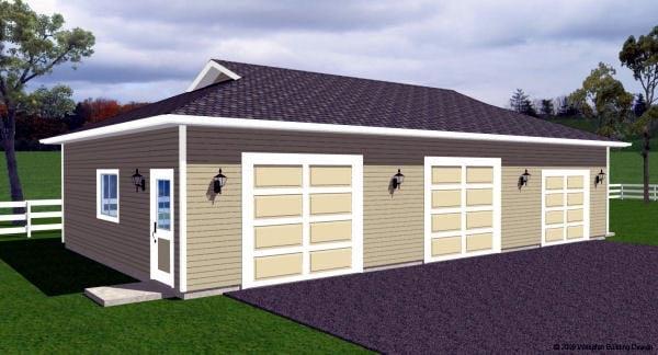 Garage Plan 90886 Elevation