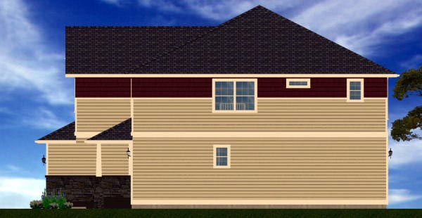 Craftsman Plan with 3406 Sq. Ft., 6 Bedrooms, 6 Bathrooms, 2 Car Garage Picture 3