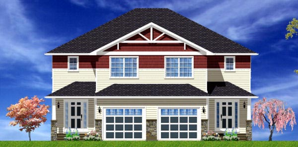 Craftsman Plan with 3406 Sq. Ft., 6 Bedrooms, 6 Bathrooms, 2 Car Garage Picture 4