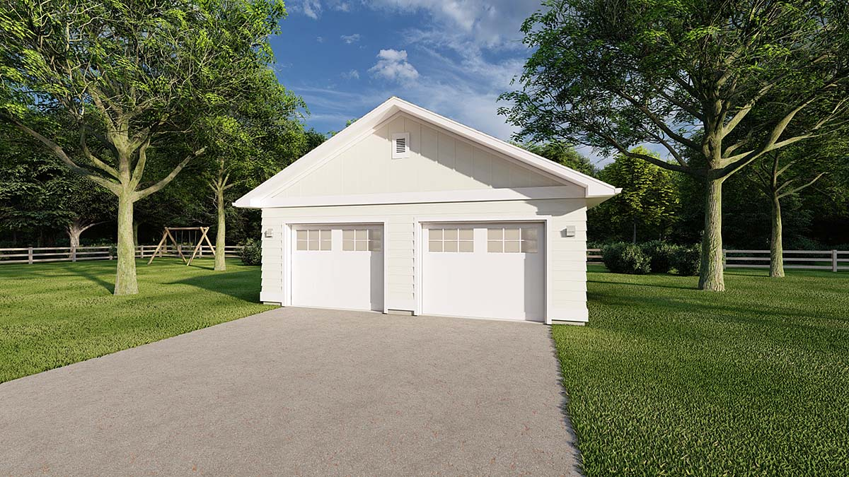 2 Car Garage Plan 90895 Elevation