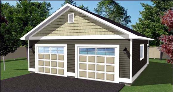 2 Car Garage Plan 90896 Elevation