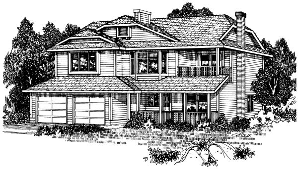 Contemporary, Country House Plan 90949 with 3 Beds, 2 Baths, 2 Car Garage Elevation