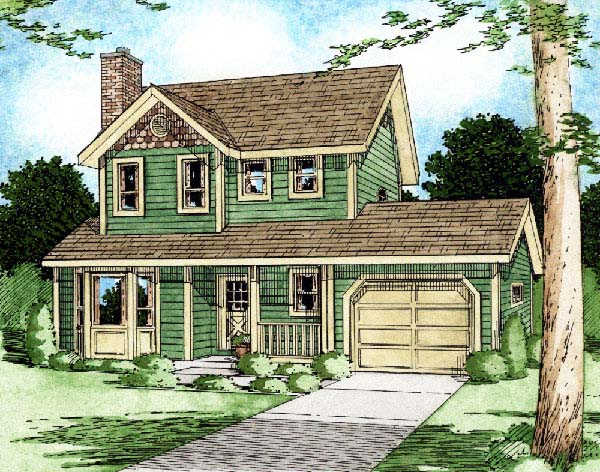 Country Craftsman House Plan 90951 Elevation