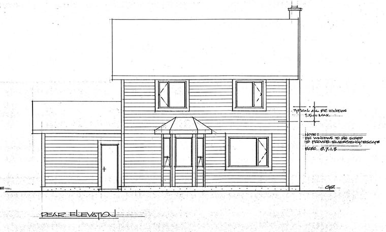 Country Craftsman House Plan 90951 Rear Elevation
