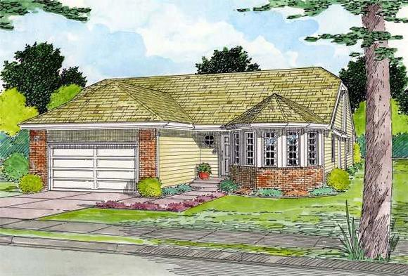 Traditional House Plan 90953 with 3 Beds, 2 Baths, 2 Car Garage Elevation