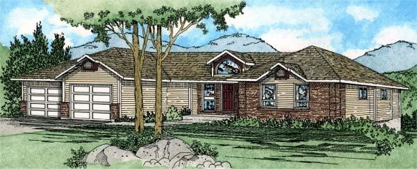 Ranch Southwest House Plan 90954 Elevation