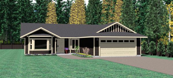 Ranch House Plan 90956 Elevation
