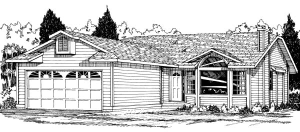 Ranch House Plan 90959 Elevation