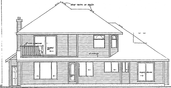 Traditional House Plan 90966 Rear Elevation