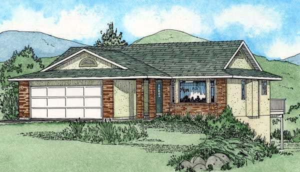 Ranch Southwest House Plan 90987 Elevation