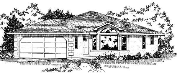 Contemporary Traditional House Plan 90998 Elevation