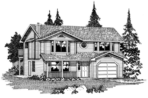 Contemporary House Plan 90999 Elevation