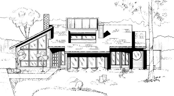 Contemporary House Plan 91052 Elevation