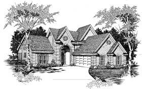 Tudor House Plan 91111 with 4 Beds, 3 Baths, 2 Car Garage Elevation