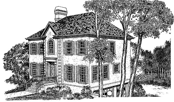 Country House Plan 91222 Elevation