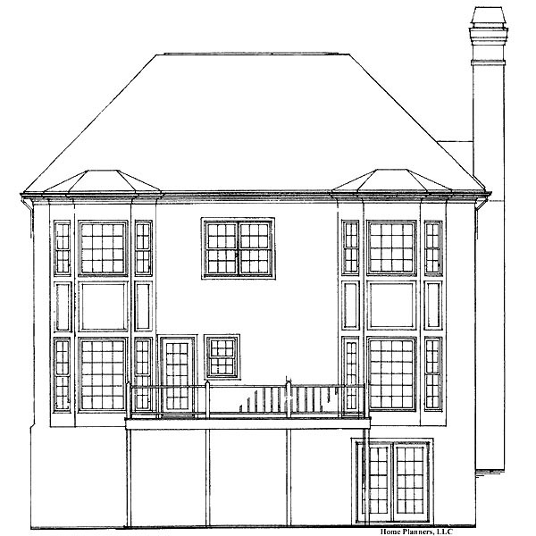 Country House Plan 91222 Rear Elevation
