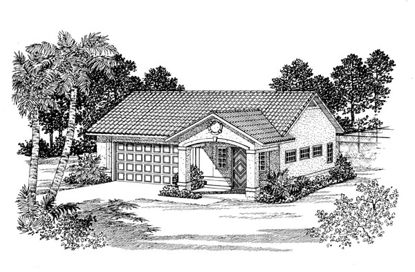 Elevation of Garage Plan 91246