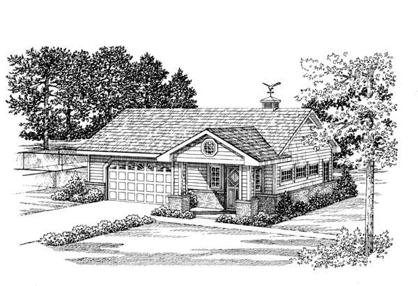 2 Car Garage Apartment Plan 91248 Elevation