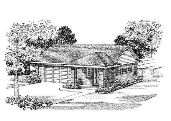 2 Car Garage Apartment Plan 91249 Elevation