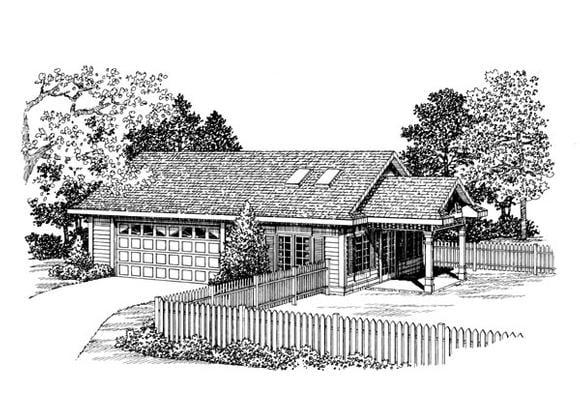 2 Car Garage Apartment Plan 91254 Elevation