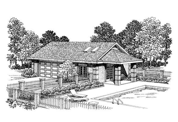 Garage Plan 91257 Elevation