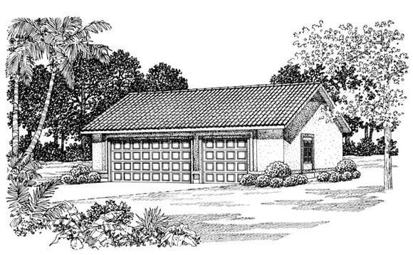 2 Car Garage Plan 91259 Elevation