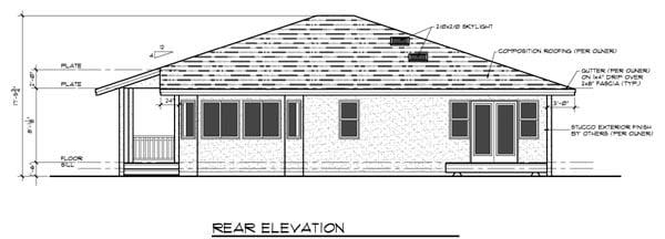 Florida Mediterranean House Plan 91340 Rear Elevation