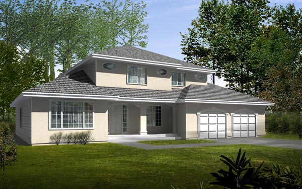 European Traditional House Plan 91610 Elevation