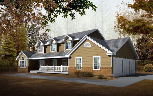 Country Traditional House Plan 91618 Elevation