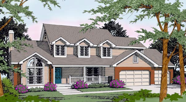 Country Farmhouse House Plan 91626 Elevation