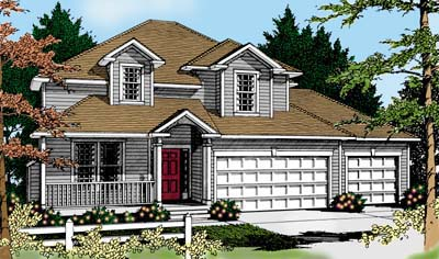Colonial Country Traditional House Plan 91632 Elevation