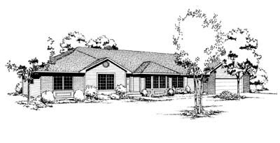 Contemporary, One-Story, Ranch House Plan 91652 with 3 Beds, 3 Baths, 2 Car Garage Elevation